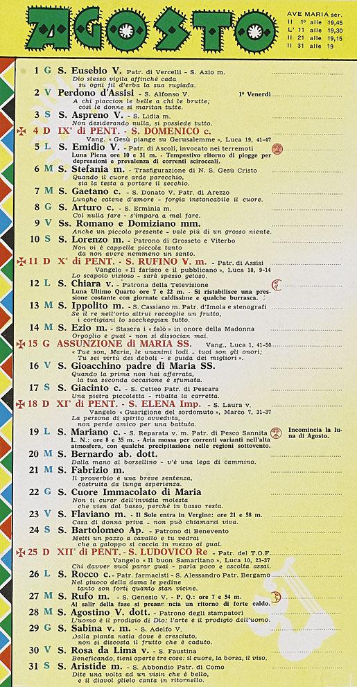 Calendario Frate Indovino.Correva L Anno 1963 Pinocchio Per I Ragazzi Dagli 8 Agli 80 Anni
