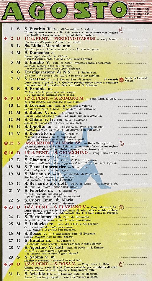 Calendario Lunare 1988.Correva L Anno 1964 Il Pane Del Perdono