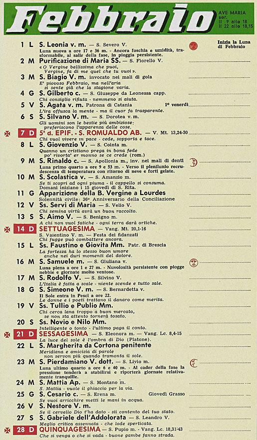 Calendario Frate Indovino.Correva L Anno 1965 Mondo D Oggi All Inferno Di Dante