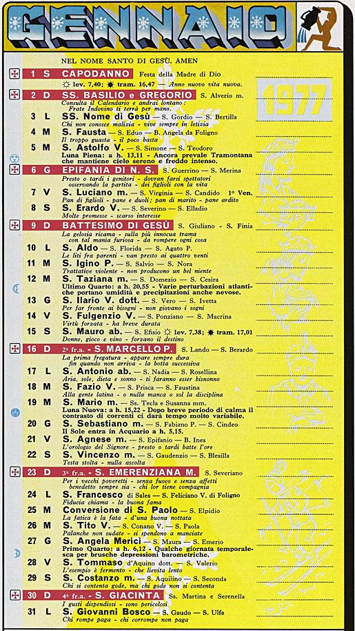 Calendario Del 1977.Correva L Anno 1977 Gioie Della Terza Eta