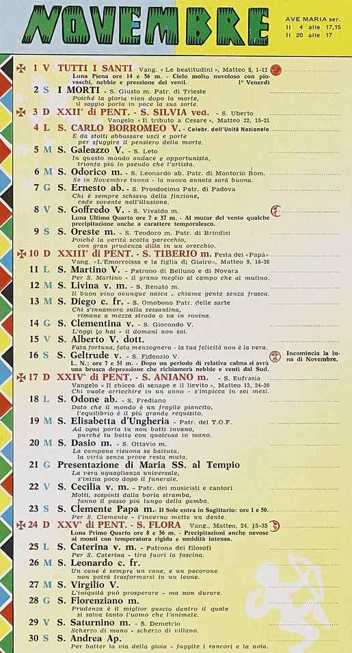 Il Calendario Di Frate Indovino.Correva L Anno 1963 Pinocchio Per I Ragazzi Dagli 8 Agli 80 Anni