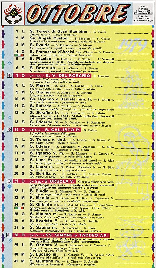 Il Calendario Di Frate Indovino.Correva L Anno 1979 Angeli Negri Angeli Bianchi