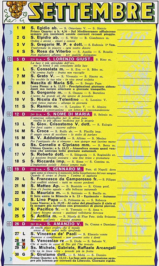Calendario 1976 Argentina.Correva L Anno 1976 Torna A Casa Lessi